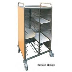 vozík NEK odkládací na podnosy s použitým nádobím