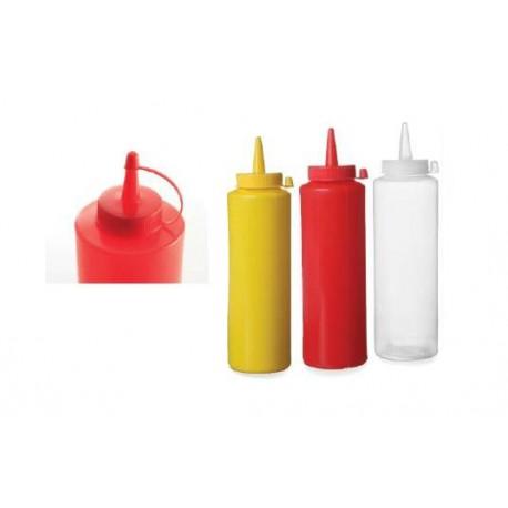 plast láhve na kečup, hořčici a omáčky