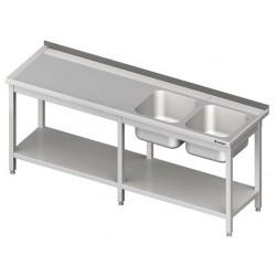 mycí stůl ST 85 dvouma dřezy a policí