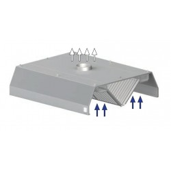 digestoř prostorová ST 210 - trapéz, 2000 mm