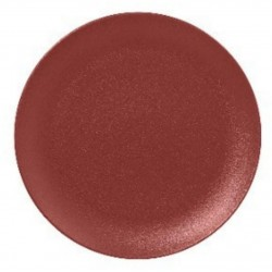 Talíř mělký 24cm - tmavě červená