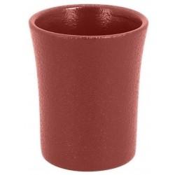 Hrnek bez ouška 9cl - Basil - tmavě červená