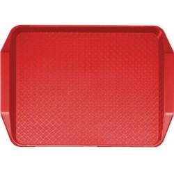 Podnos jídelní Fast Food 30 x 43 cm červený