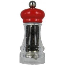 HIP HOP mlýnek na pepř transparentní červený, 11cm