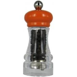 HIP HOP mlýnek na pepř, transparentní oranžový, 11cm