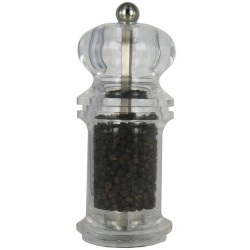 BOLÉRO mlýnek na pepř, průhledný, 13 cm