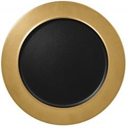 Talíř mělký Metalfusion 32 cm černo-zlatý