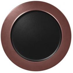 Talíř mělký Metalfusion 32 cm černo-bronzový