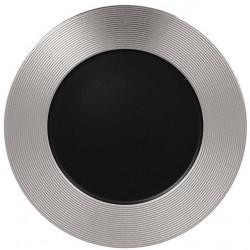 Metalfusion talíř mělký zdobený pr. 33 cm, černo-stříbrný