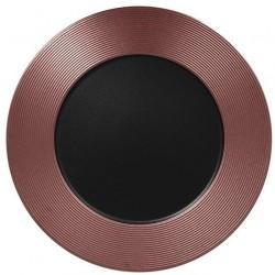 Metalfusion talíř mělký zdobený pr. 33 cm, černo-bronzový