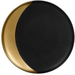Metalfusion talíř hluboký pr. 24 cm, černo-zlatý
