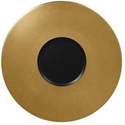 Metalfusion talíř mělký Gourmet pr. 29 cm, černo-zlatý