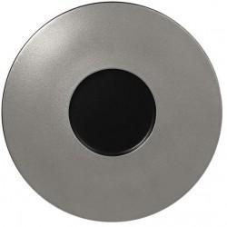 Metalfusion talíř mělký Gourmet pr. 29 cm, černo-stříbrný