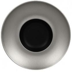 Metalfusion talíř hluboký Gourmet pr. 26 cm, černo-stříbrný