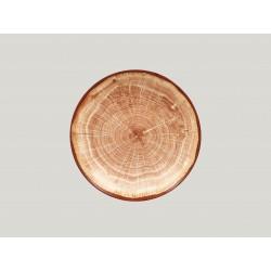 hluboký coupe talíř - světle hnědá Woodart