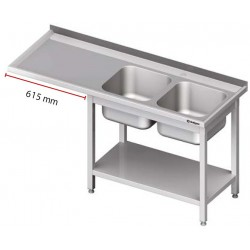 stůl s dřezem a dole prostor pro myčku nebo ledničku - ST 96 a ST 95