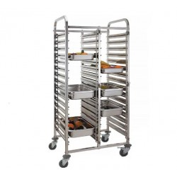 vozík na gastronádoby GN 1/1 dvojitý