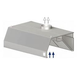 digestoř nástěná ST 207 - trapéz, 800 mm