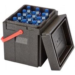 Termobox na láhve 35 l červený úchyt CAMBRO