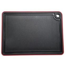 Deska krájecí černá - červená 27 x 19 x 20 cm