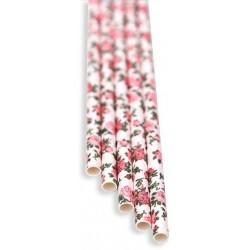 Brčka - květinová papírová 100ks, délka 21 cm