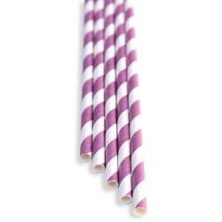 Brčka - fialová, papírová 100ks, délka 21 cm
