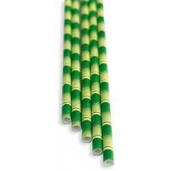 Brčka - bambus papírová 100ks, délka 21 cm