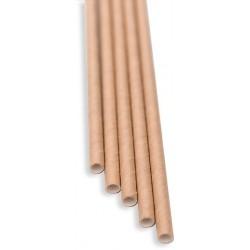 Brčka - natural papírová 100ks, délka 21 cm