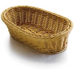 Košík na pečivo polypropylen - oválný 28 x 16 cm