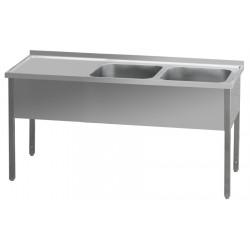 MSDOL-210x60x90/2x60x50 Stůl mycí dvoudřez odk.pl.levá