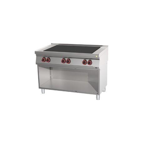SPL 70/120 E - Sporák elektrický s 6 tálovými plotnami s podestavbou