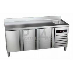 Chladící stůl GTP-7-180-30 - agregát vpravo + dřez