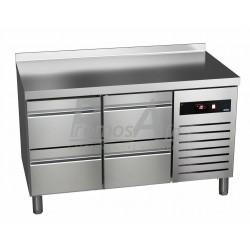 Chladící stůl Asber GTP-7-135-04 - agregát vpravo + dřez