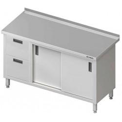stůl 2 zásuvky, 2 dvířka posuvná ST 034 (35)