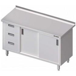 stůl s 3 zásuvkami a polici ST 038 (039)