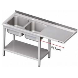 stůl s 2 dřezy ST 104 prostor pro myčku nebo ledničku