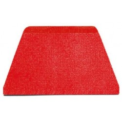 Stěrka polypropylenová červená 216x128 mm